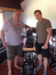 Michael Paré and Cinematographer Ken Kelsch on the set